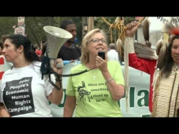 Elizabeth May Green Canadian MP speak at People's Climate March NYC